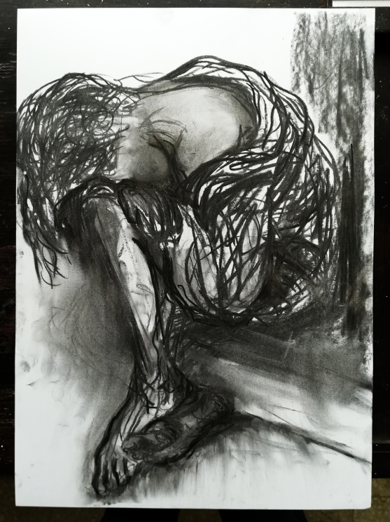 charcoal on paper / 42 x 30 cm