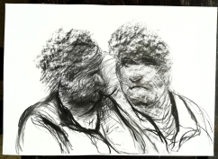 charcoal on paper / 30 x 42 cm