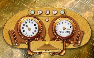 ILLUSTRATOR CC - steampunk-dashboard-car
